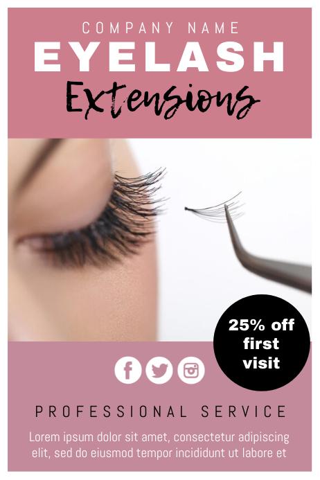 template beauty lash extensions vorlage