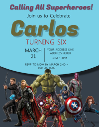 avengers birthday customizable design