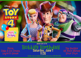 toy story birthday invitation template