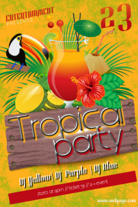 16720 Customizable Design Templates For Tropical Party PosterMyWall