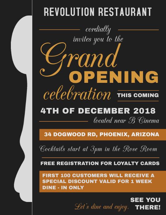 typografie grand opening flyer vorlage