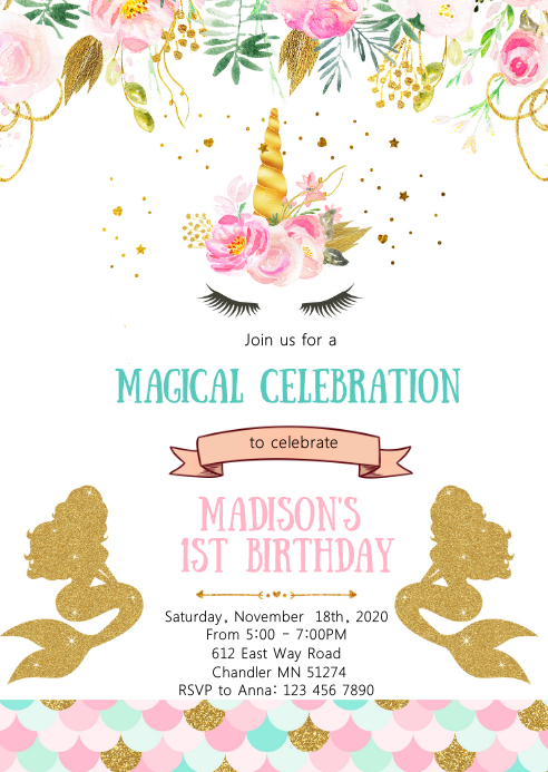unicorn mermaid birthday party