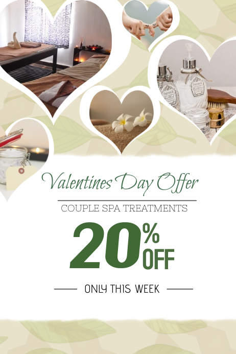 Valentines Day Spa Portrait Template PosterMyWall