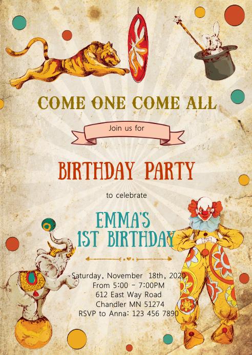 vintage circus birthday party