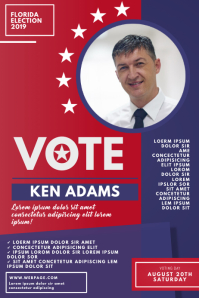 3 210 make your own vote for me poster