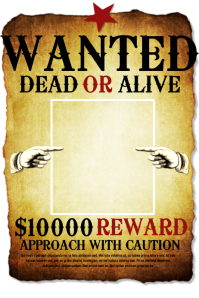 wanted-poster   George Peirson Training