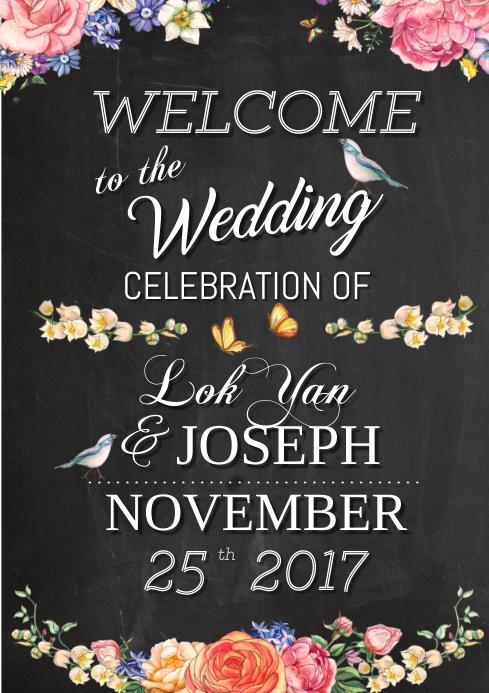 wedding welcome board template