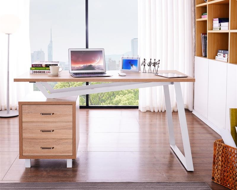 Computer Desk With Three Drawers White Oak Computer Desks Office Furniture Office