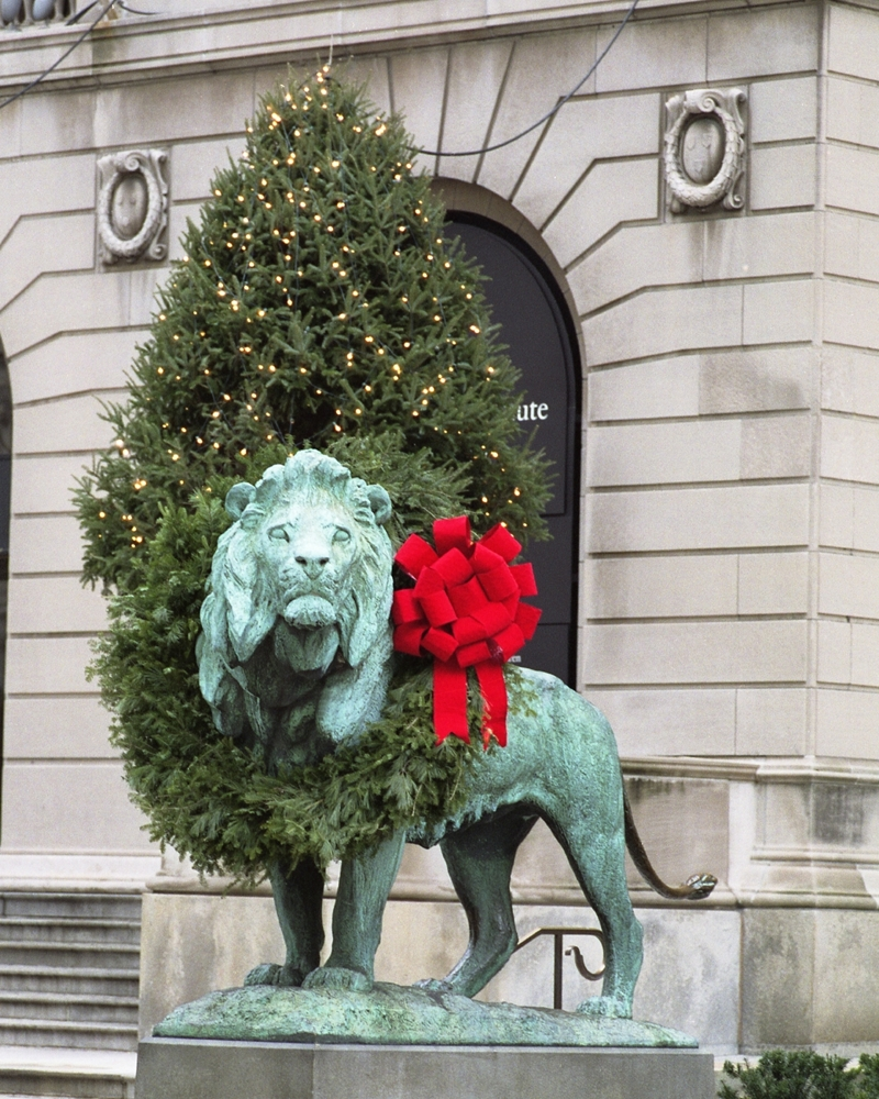 Image result for art institute lions wreath