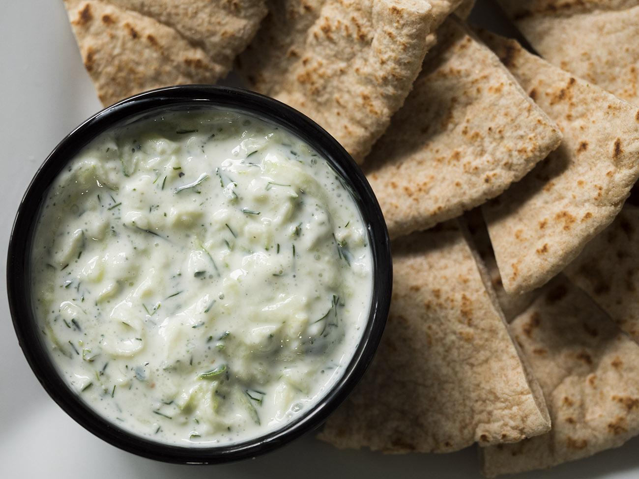 Dip Greek Vegetables Yogurt