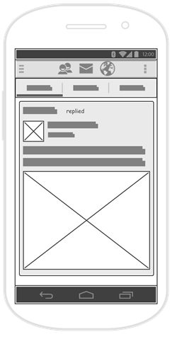 Facebook wireframe example