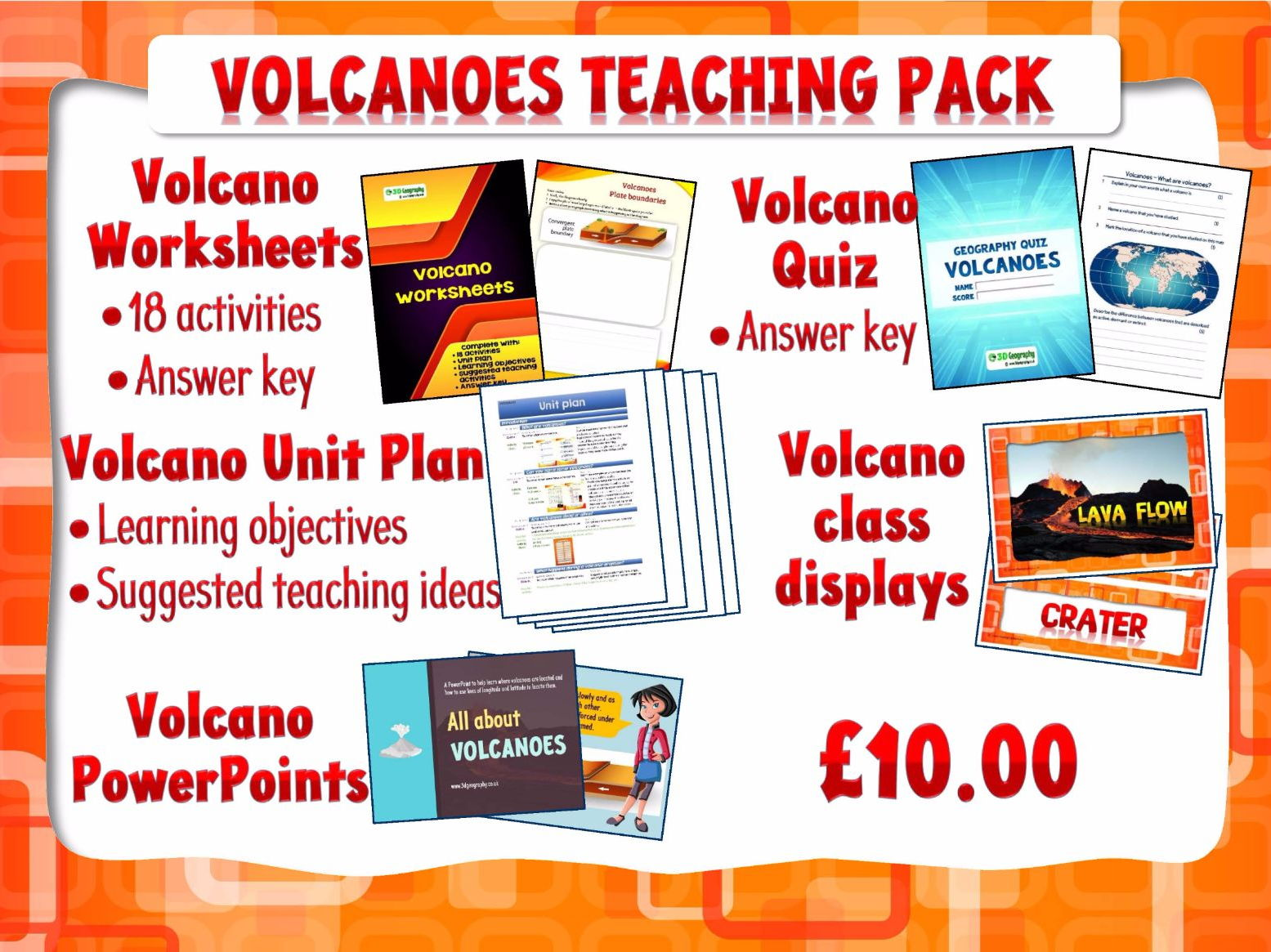 Volcano Teaching Resources Bundle