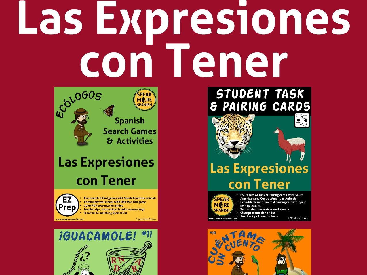 Spanish Tener Expressions Bundle Expresiones Con El Verbo