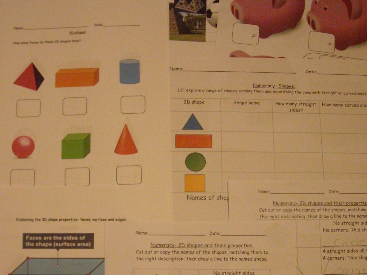 Maths Shape Money Numeracy Dice Games Patterns Big
