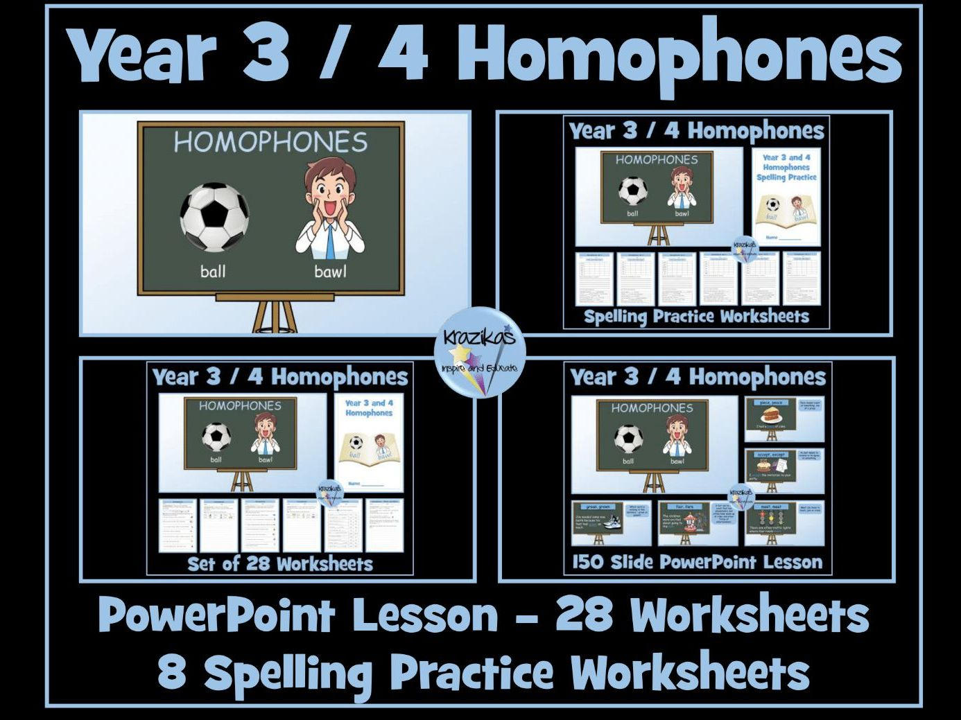 Homophones Year 3 And 4