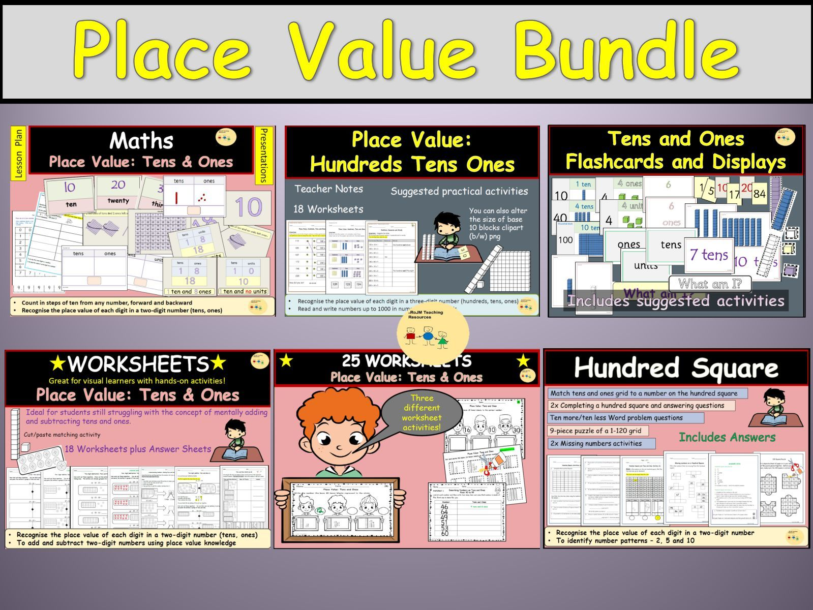 Place Value Partitioning Bundle Hundreds Tens And Ones