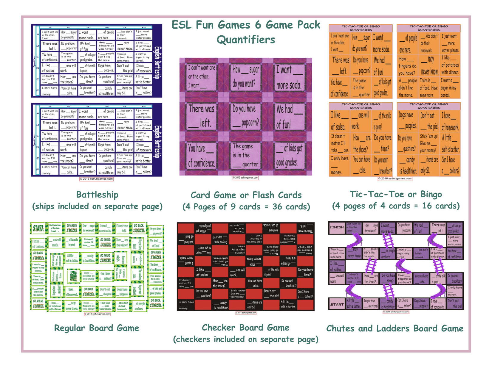 Quantifiers 6 Board Game Bundle