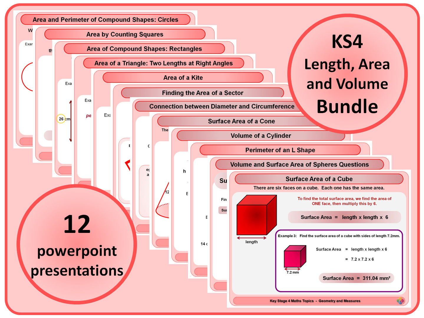 Ks4 Length Area And Volume Bundle By Magictrickster