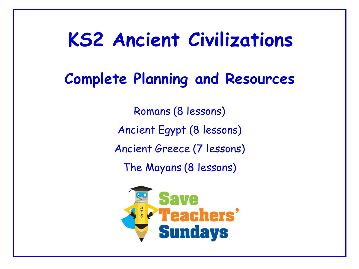 Ks2 Ancient Civilizations Bundle