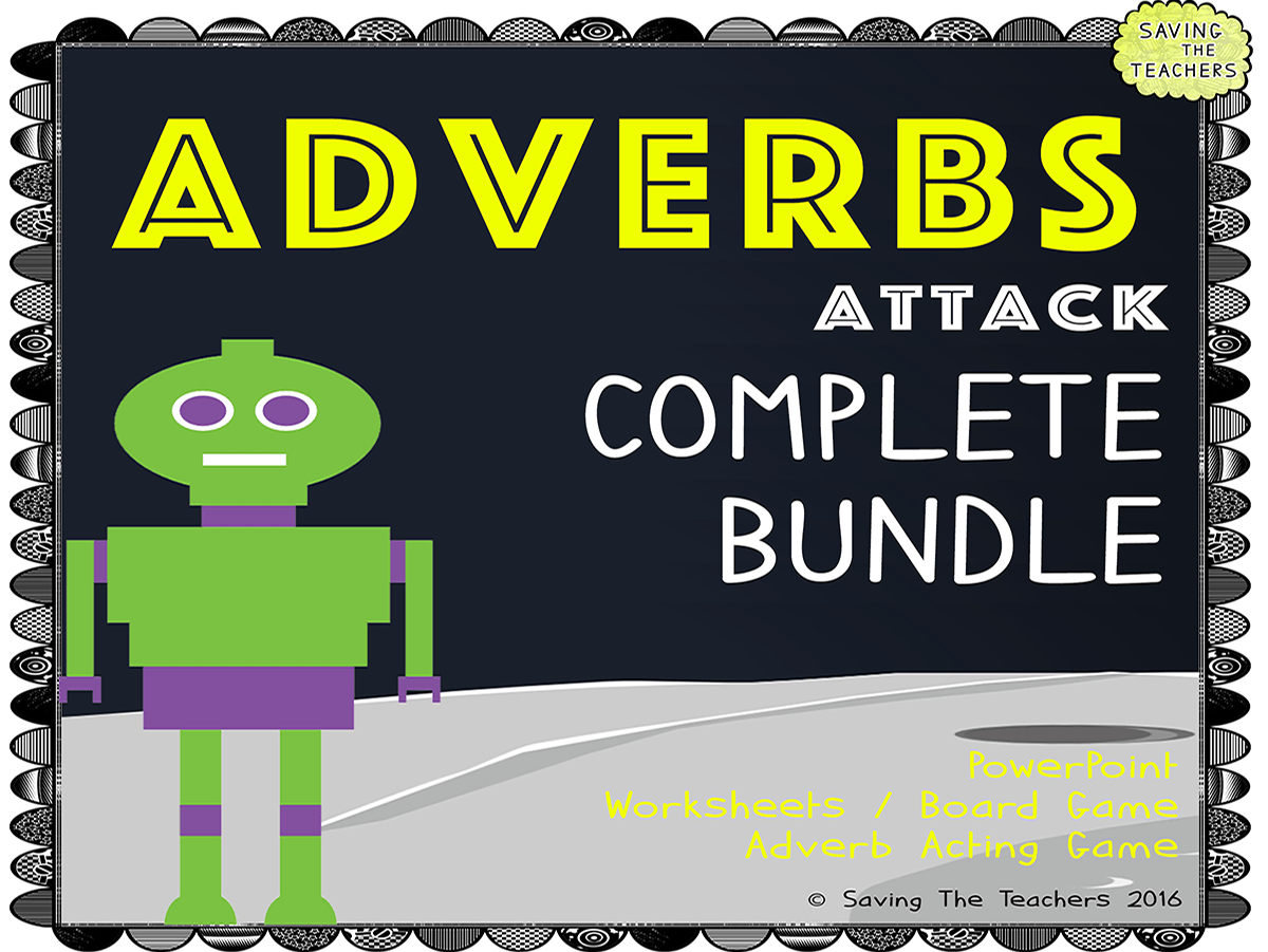 Adverb Worksheets Activities And Game Bundle By