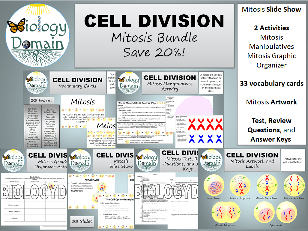 Cell Division Mitosis Bundle Save 20