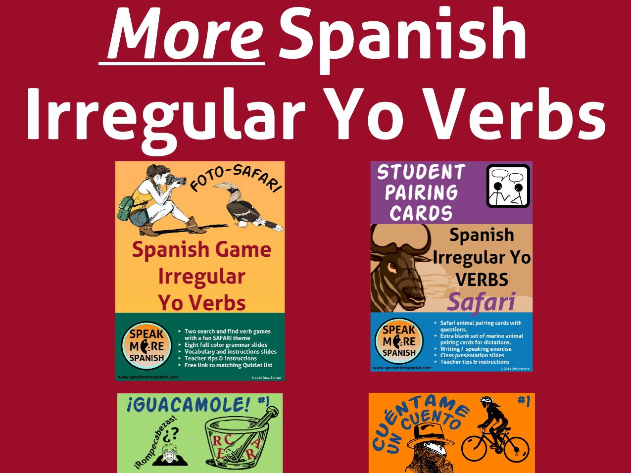 More Spanish Present Irregular Yo Verbs Bundle 2