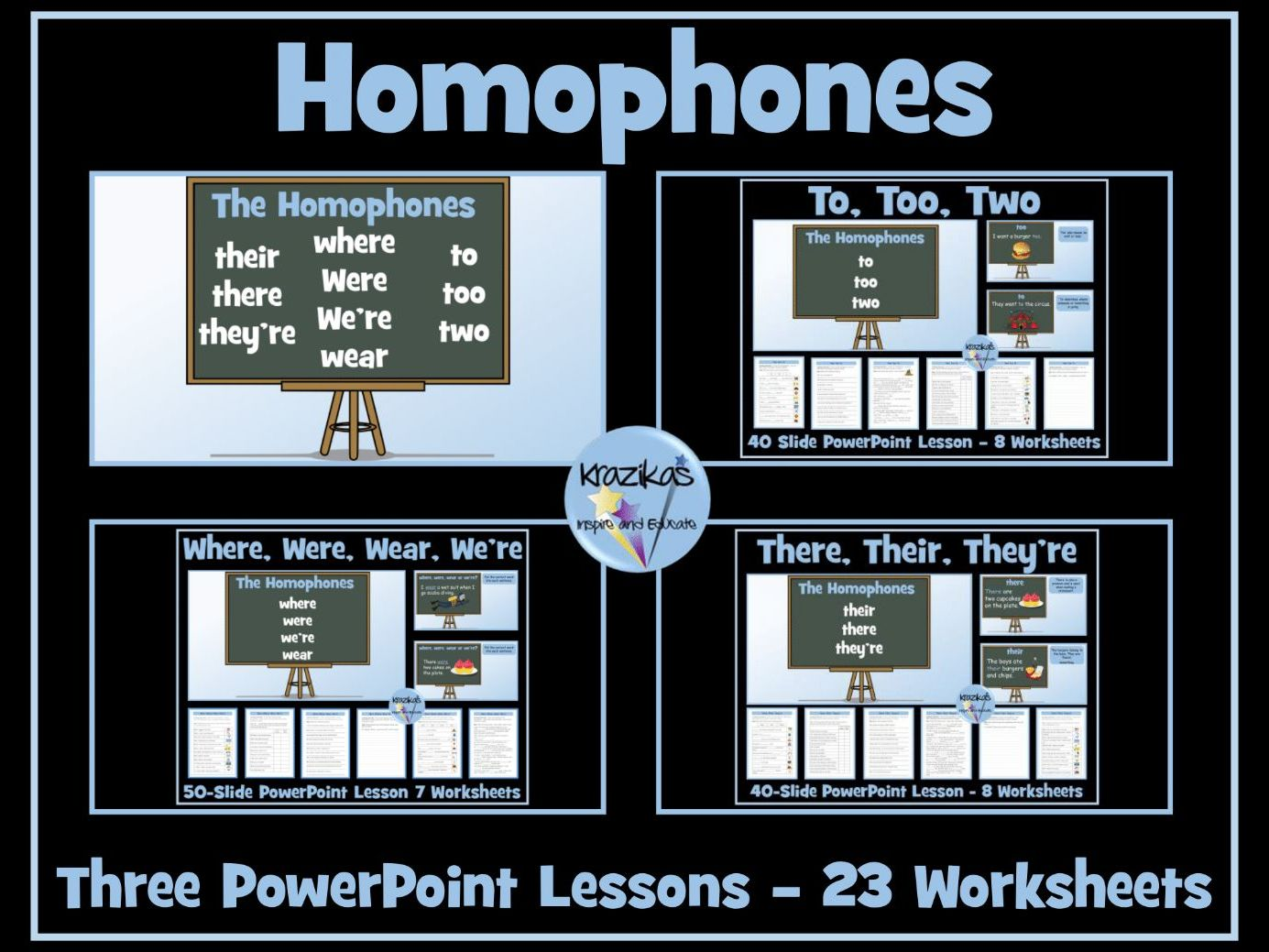 Homophones Where Were Wear There They Re Their Too