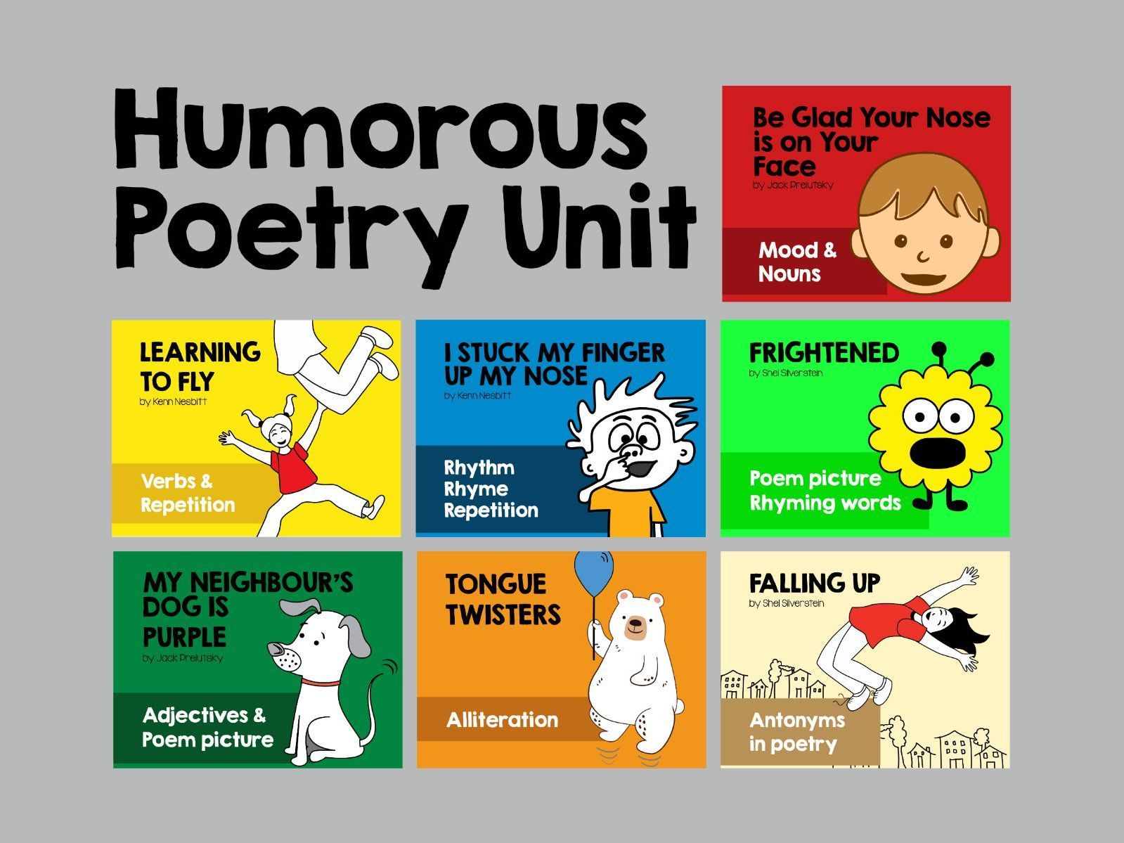Humorous Poetry Unit 8 Poetry Lessons Worksheets
