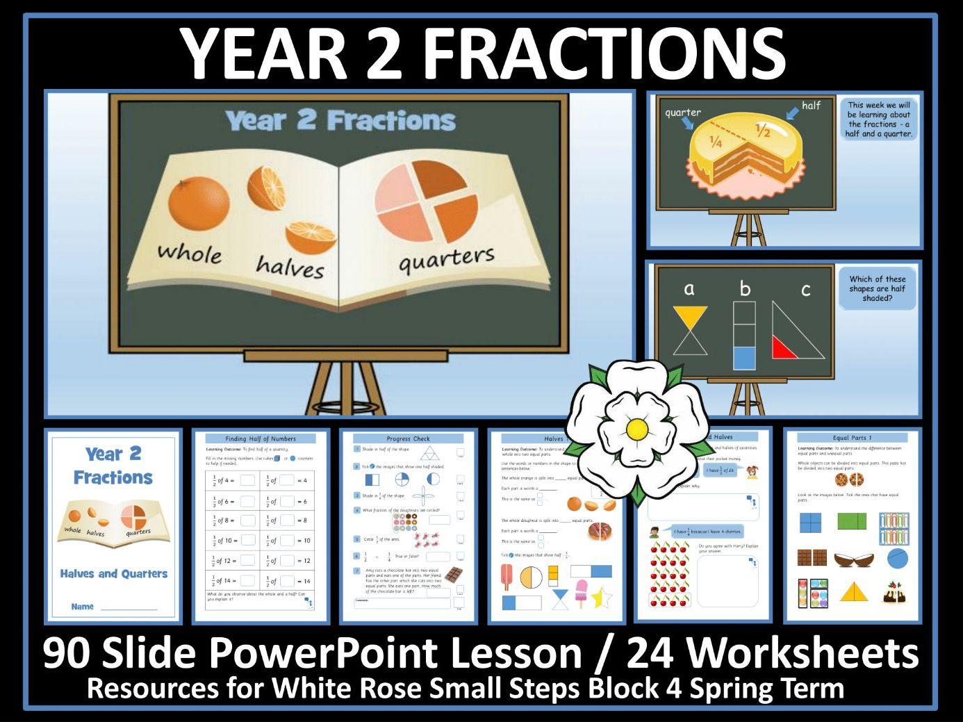 Fractions Worksheet Halves And Quarters