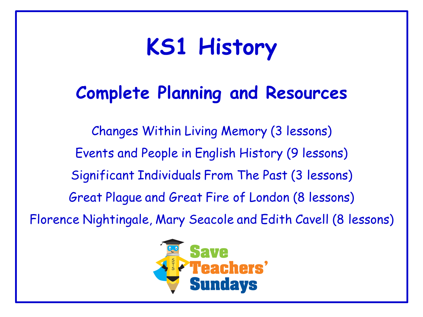 Ks1 History Planning And Resources