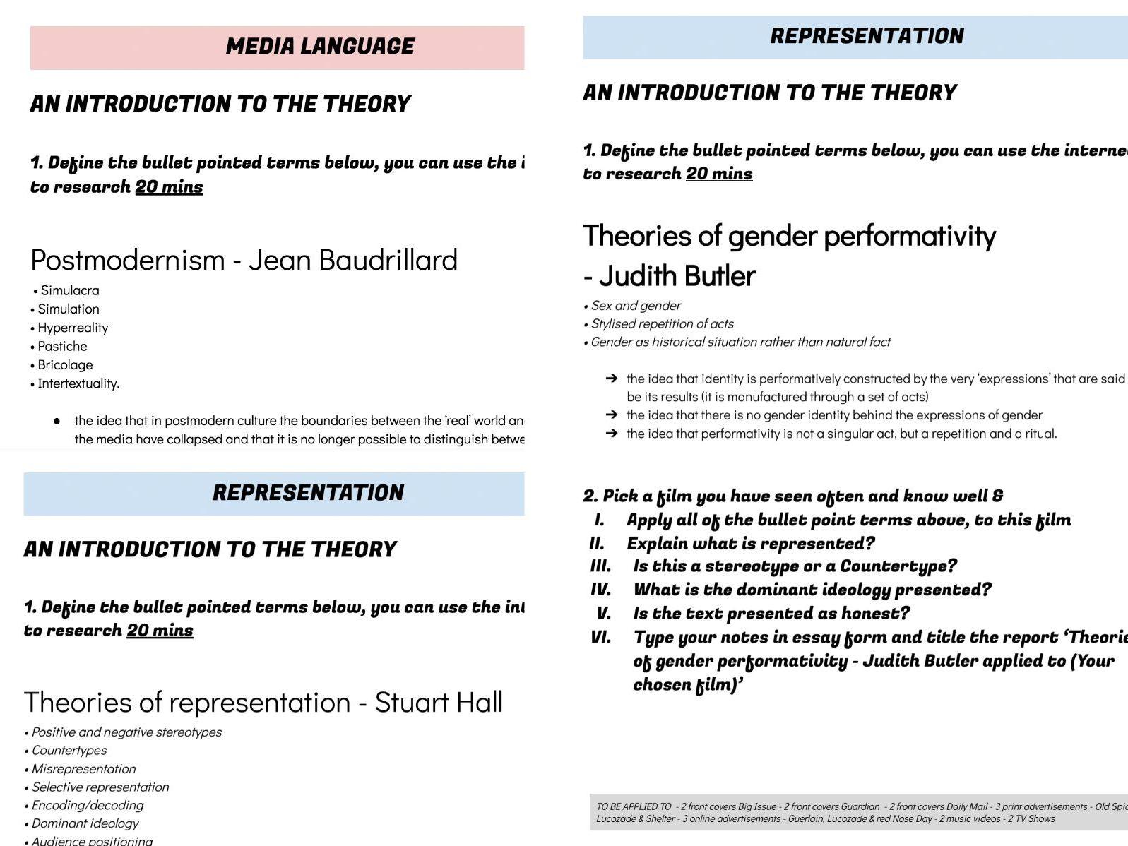 Wjec Media A Level Media Language Amp Representation
