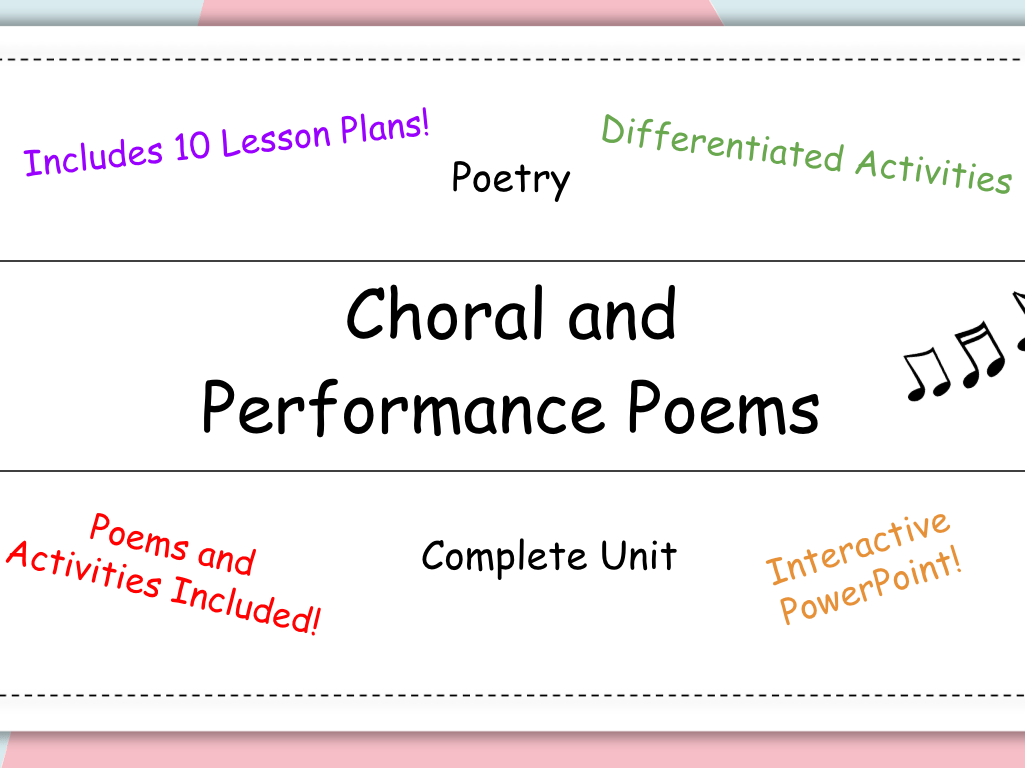 Middle School English Resources Poetry Worksheets For 6th