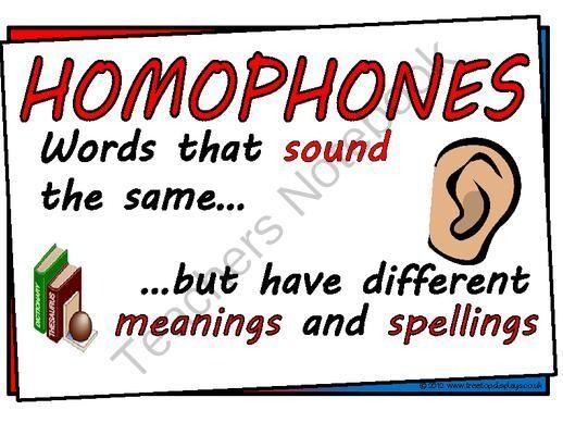 Homophones Worksheet For Ks3