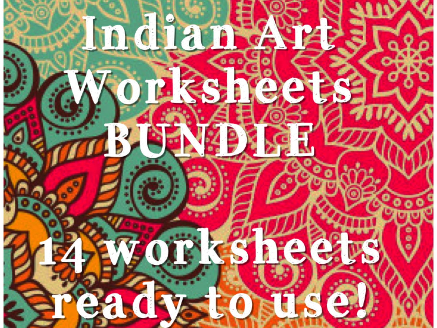 Diwali Indian Art Complete Bundle Of Over 14 Worksheets