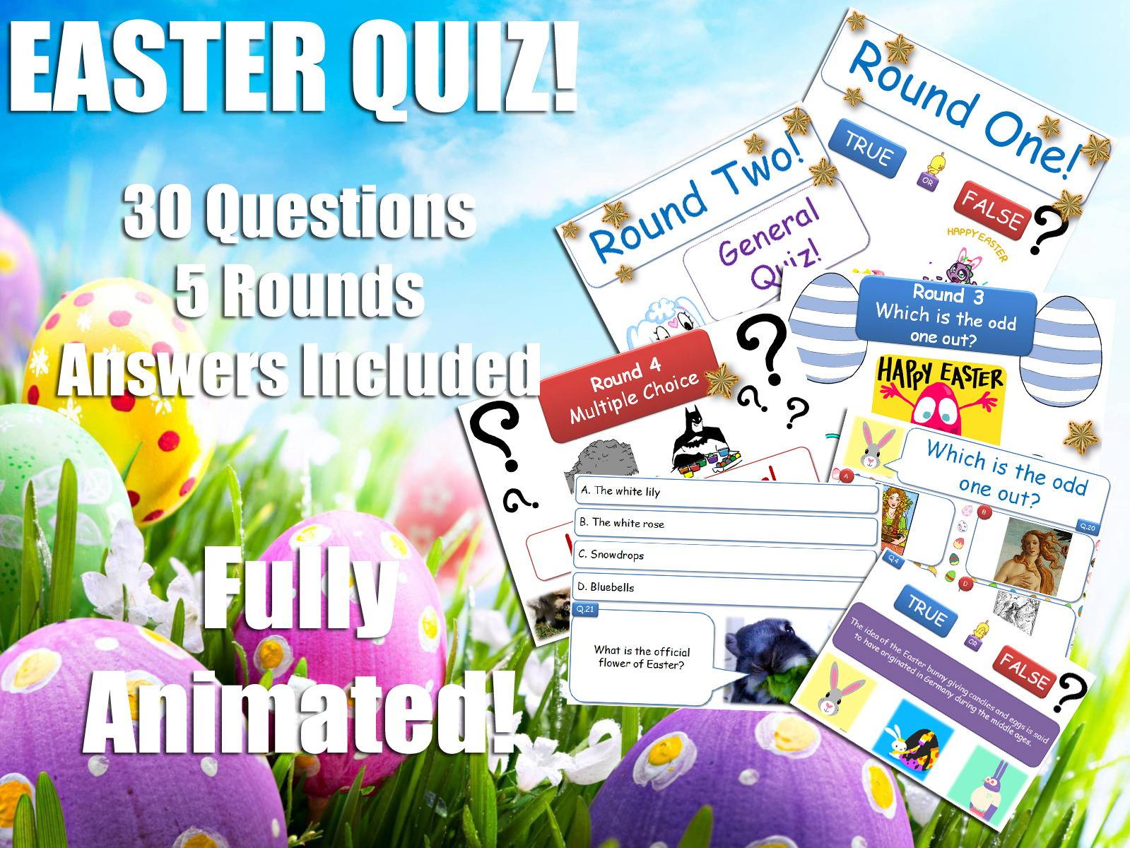 Religious Stu S Easter Quiz Bundle Re Rs Ks3