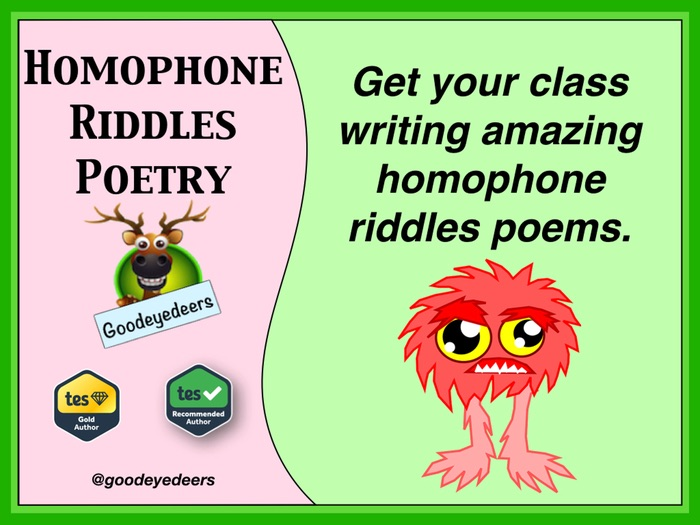 Homophone Riddle Poems