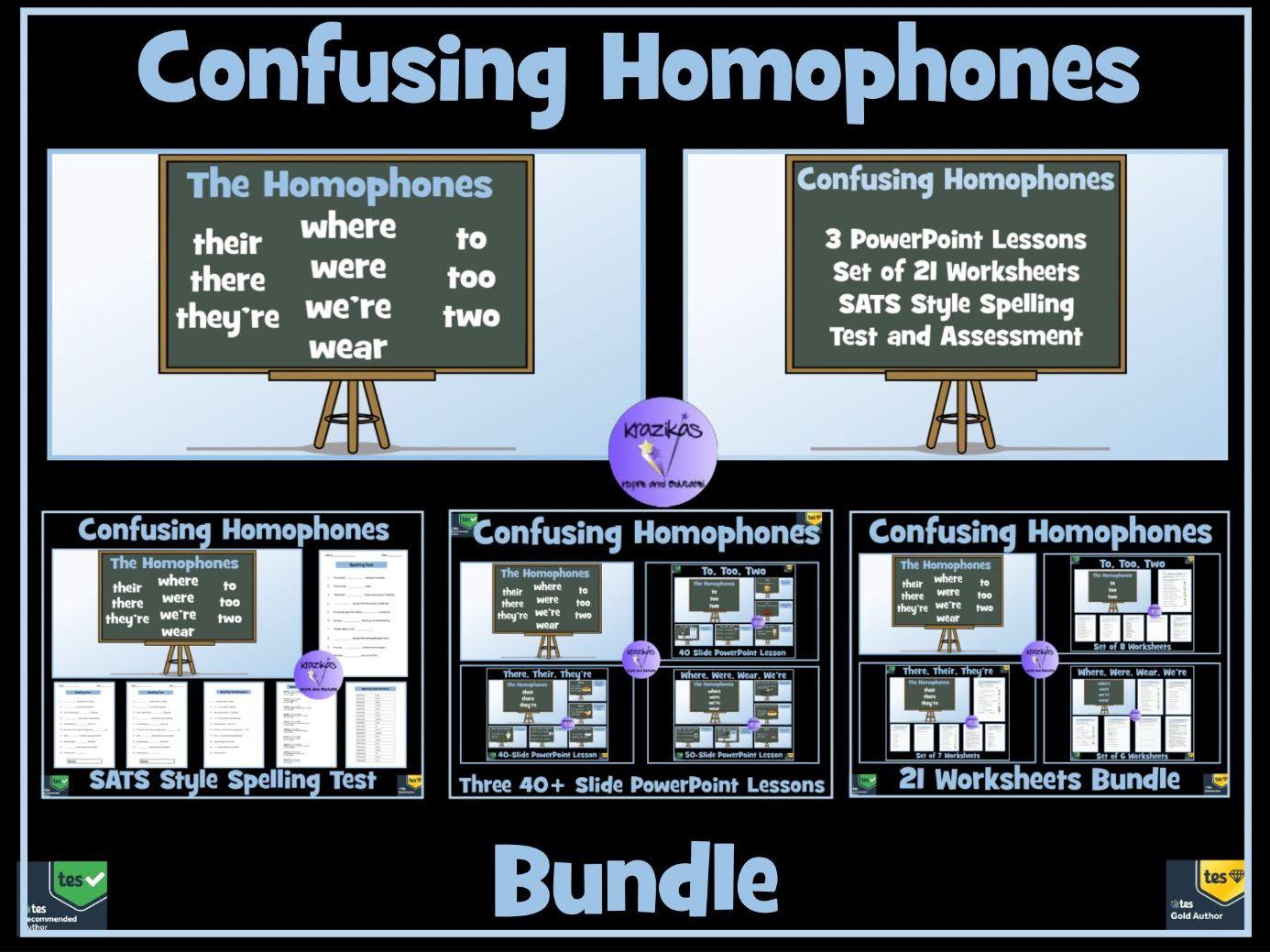 Homophones By Krazikas