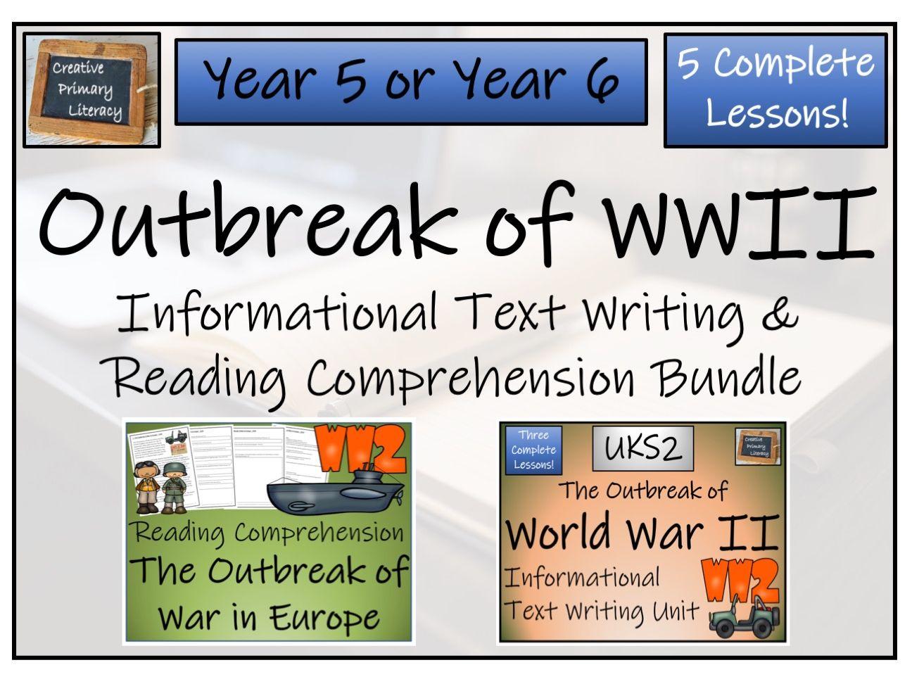 Uks2 Outbreak Of World War Ii Reading Comprehension