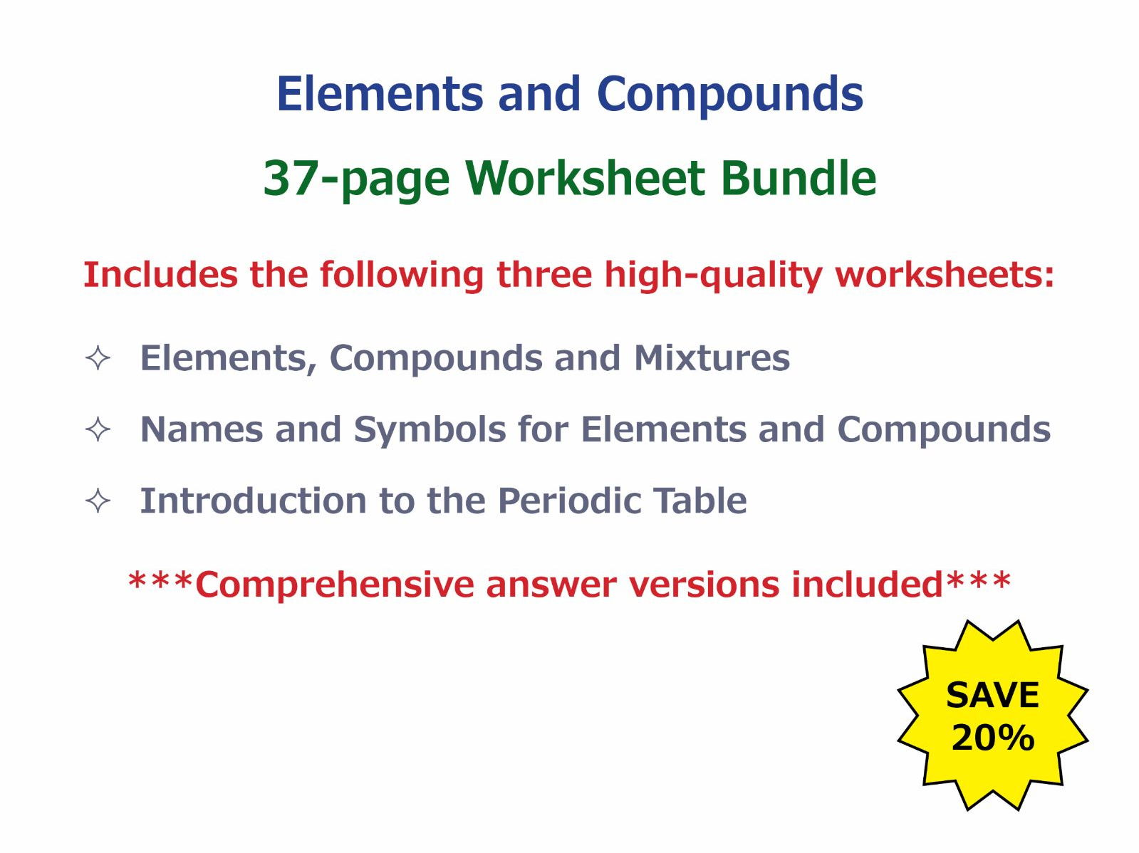 Naming Compounds Worksheet Year 8