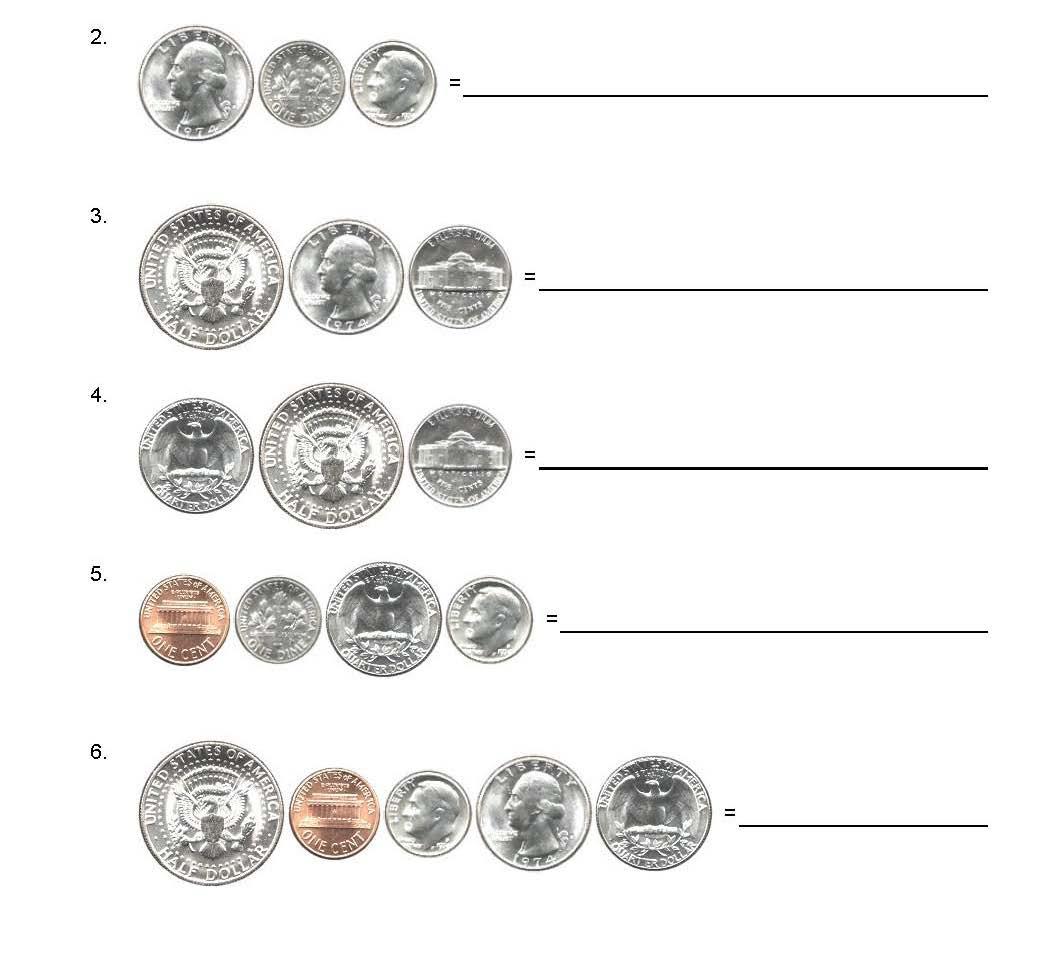 Bundle Coins Usa Uk Europe Euro Adding Up Worksheets