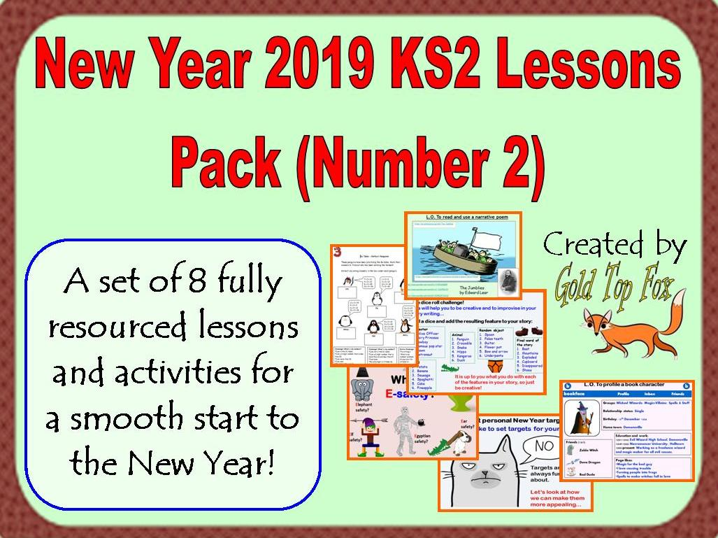 New Year Ks2 Lessons Pack Number 2
