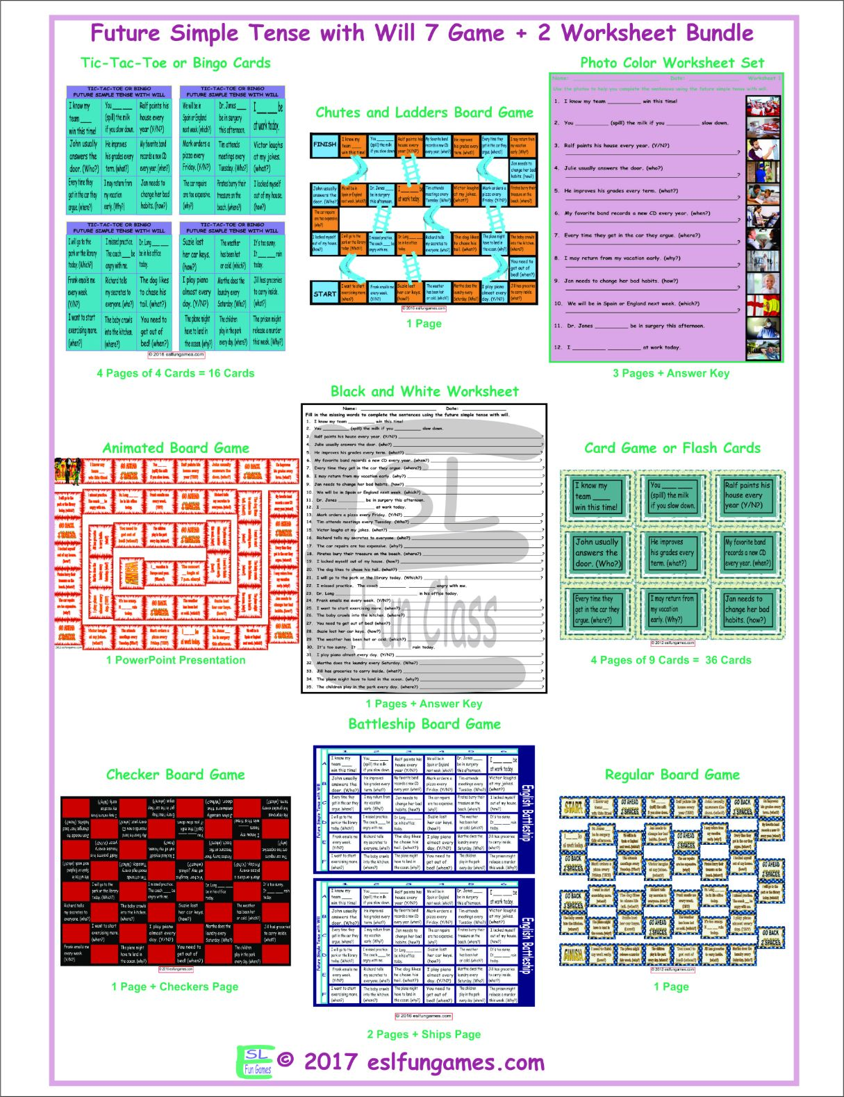 Future Simple Tense With Will 7 Game Plus 2 Worksheet
