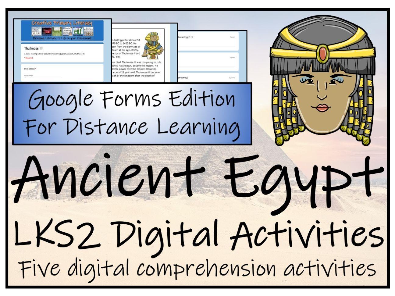 Lks2 Ancient Egypt Reading Comprehension Amp Distance