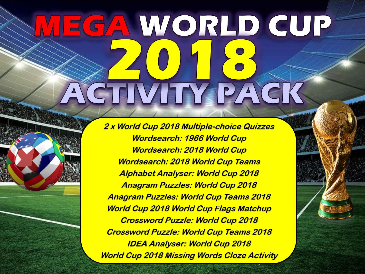 The World Cup Activities Pack Bundle Lesson Pe