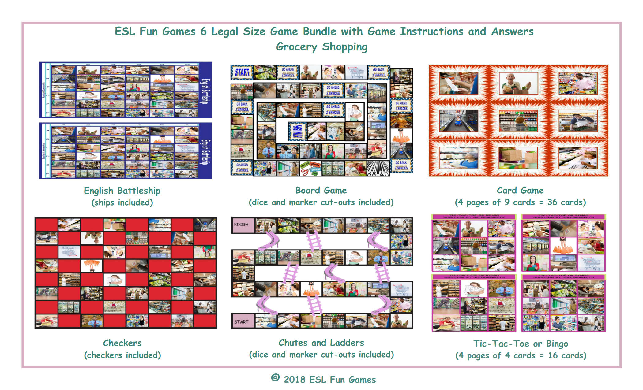 Grocery Shopping 6 English Legal Photo Game Bundle