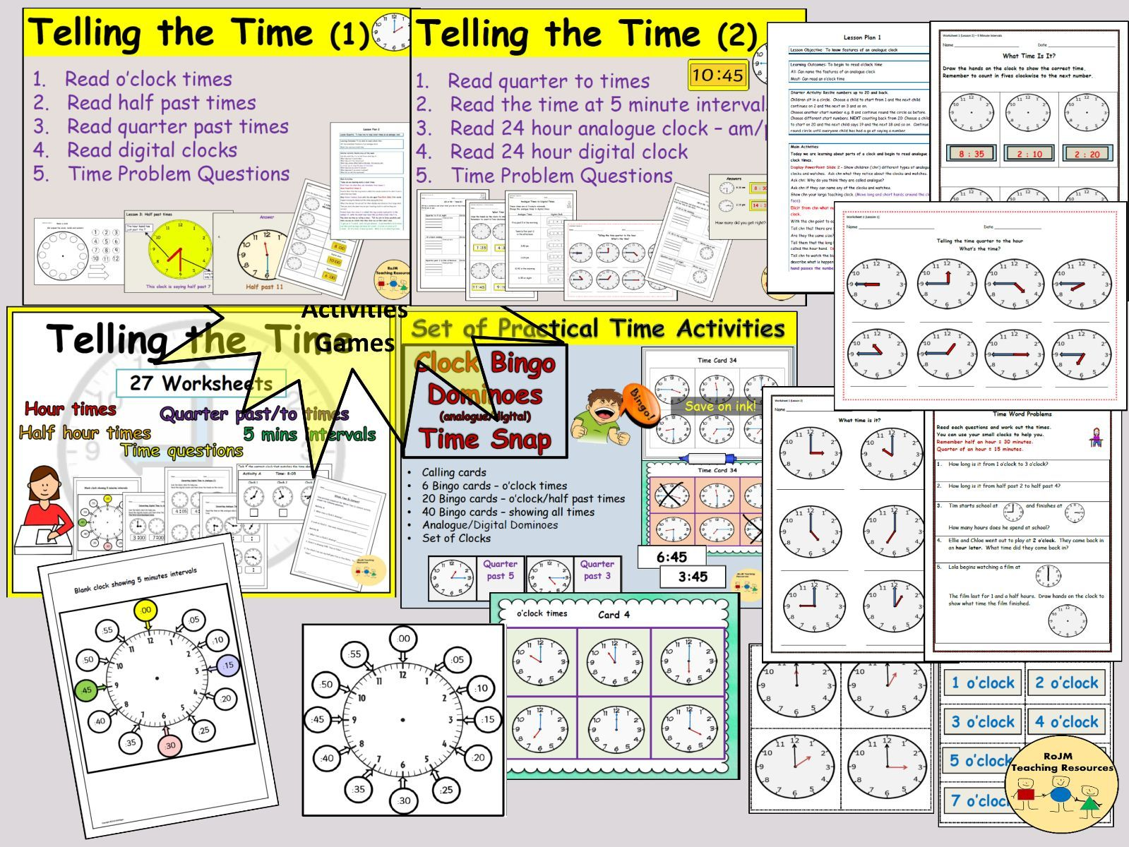 Telling The Time Clock And Time Activities Lesson Plans