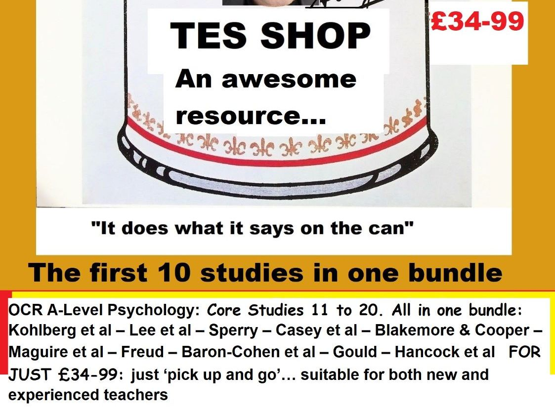 Psychology Teaching Resources A Level And Gcse All Boards