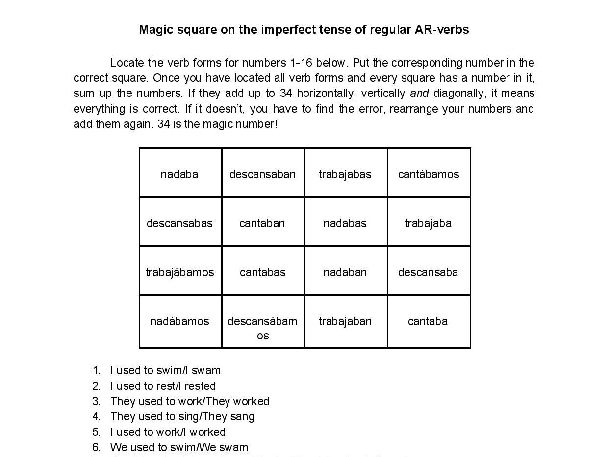 Spanish Imperfect Tense Bundle 3 Fun No Prep Worksheets
