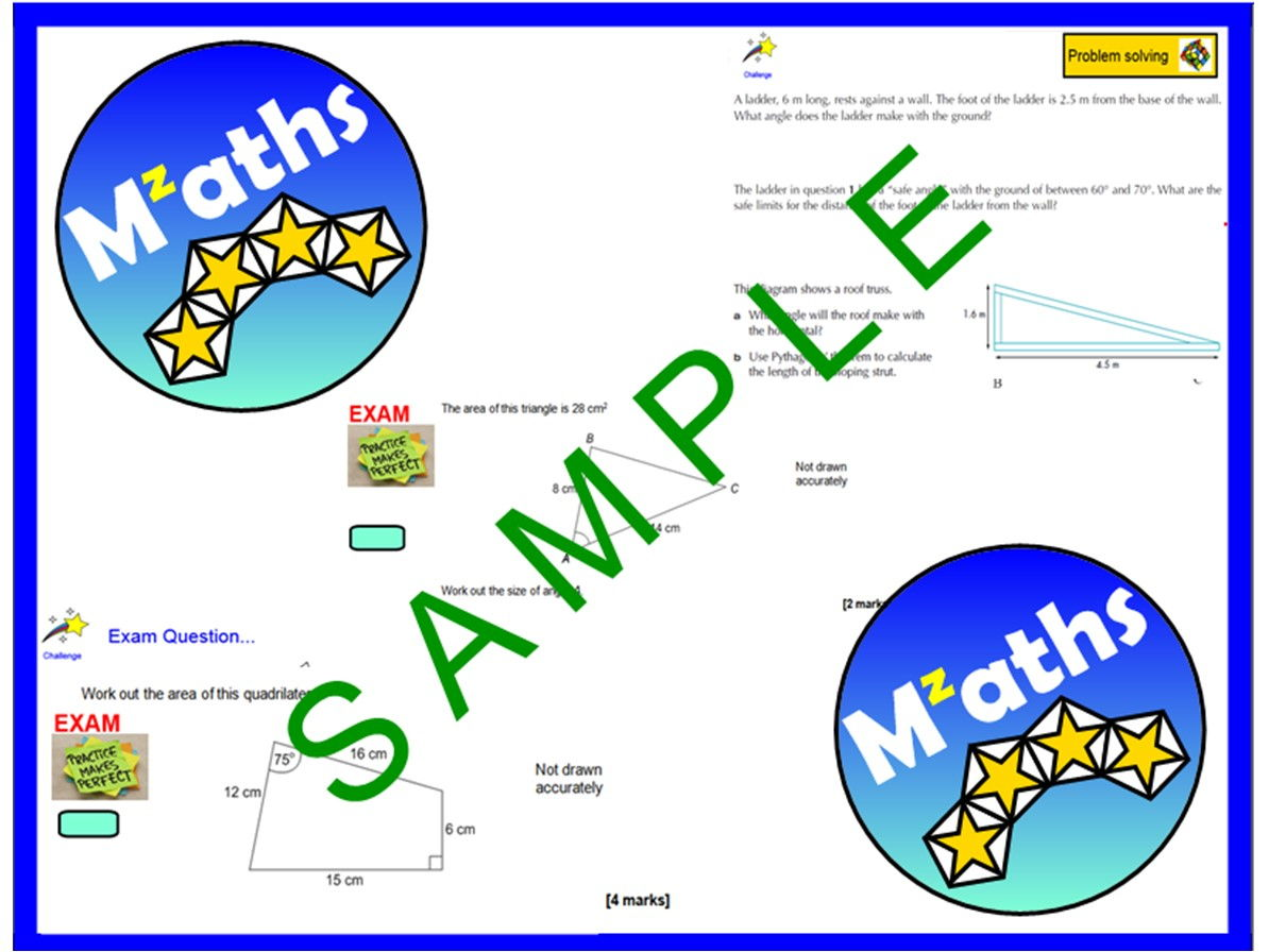 Trigonometry Sine Rule Cosine Rule Revision Bundle 7