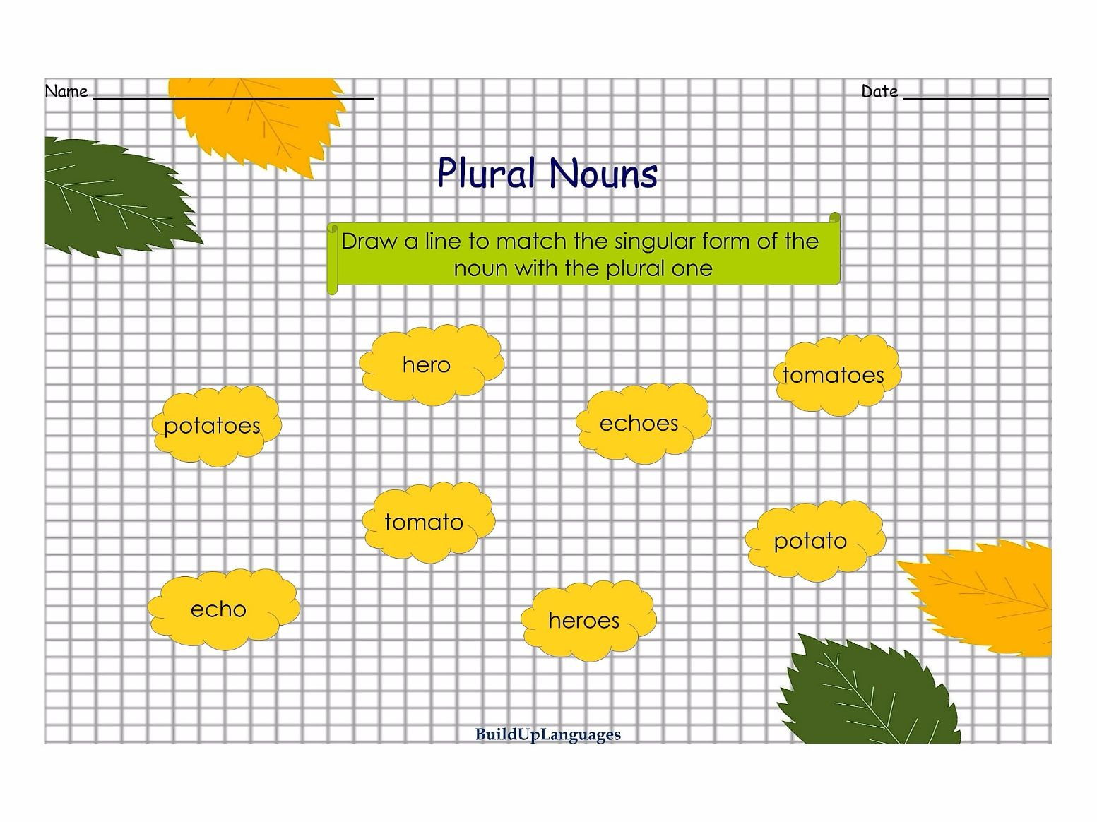Plural Nouns Practice 2 Worksheets And Games By